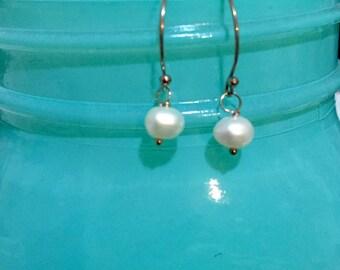 Rose gold fresh water pearl