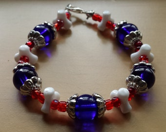 4th of July, Red White and Blue, Bracelets