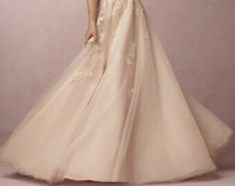 Chantell- Wedding lace skirt- Custom made