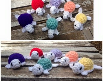 Crocheted Baby Turtles