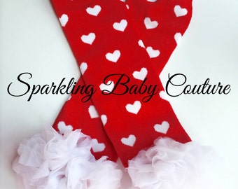 Baby Valentines Day Leg Warmers