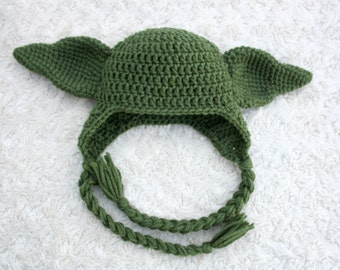 Yoda Crochet Hat (Star Wars)