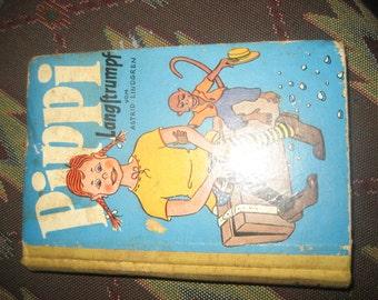 Vintage Pippi Langstrumpf, German Pippi Longstocking Hardcover 1965