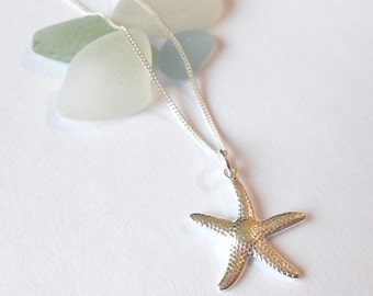 Sterling Silver Starfish Necklace,starfish necklace,beach jewellery,ocean jewellery,special gift,gift for her,sterling silver starfish