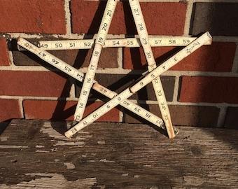 Vintage Folding Ruler Star