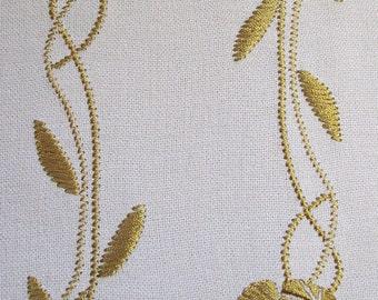 MACHINE EMBROIDERY DESIGN - Flowers Featherwork