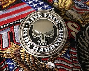 Biker Skull Pin Willie G Harley Davidson style