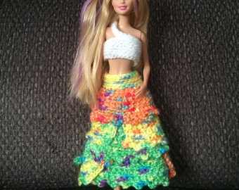 Barbie doll dress tropical style