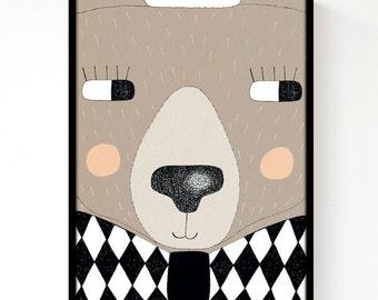 Big Bear Print A3