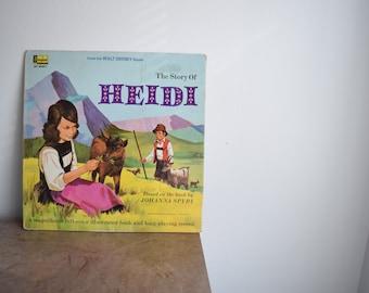"VINTAGE 1968 Disney ""The Story of Heidi"" Record"