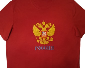 Embroidered Russian Coat of Arms Shirt