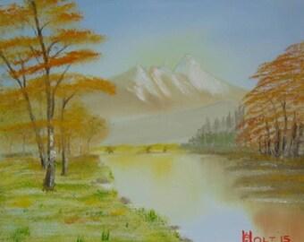 Pastel Mountain Lake