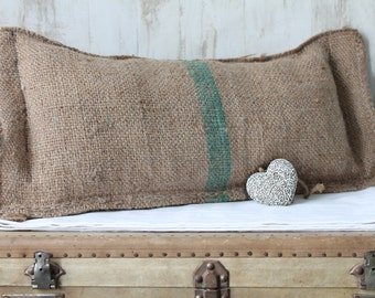 Thick 1 decorative Pillow made of burlap in industrial Style, or country chic COUS150230