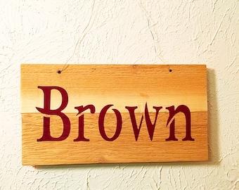 Personalized Teacher Gift Wood Door Hanger // Small Wood Door Hanger With Name // Rustic Wood Door Hanger