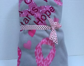 A Cure Starts With Hope Breast Cancer Throw