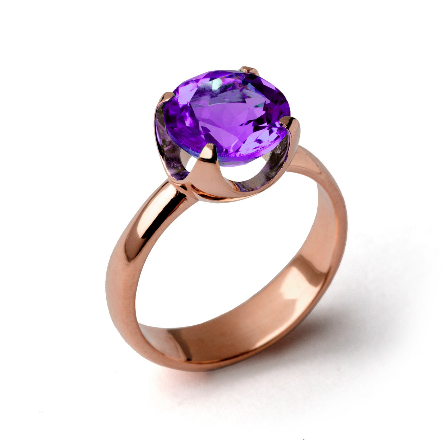 cup amethyst engagement ring purple amethyst ring rose gold. Black Bedroom Furniture Sets. Home Design Ideas