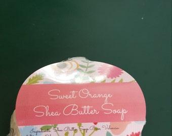 Sweet Orange Shea Butter Handmade Soap