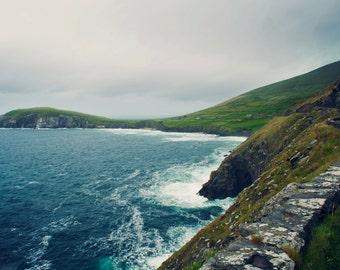 Ocean, Irish Coastal Cliffs, Dingle Peninsula, Photography, Ireland Photography