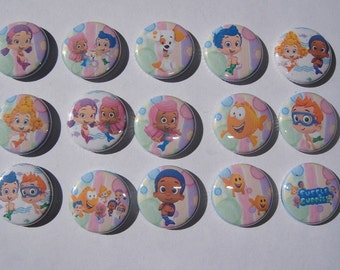 Bubbles Guppies Buttons set of 15