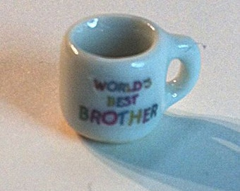 "Miniature ""World's Best Brother"" Coffee Cup (CER025)"