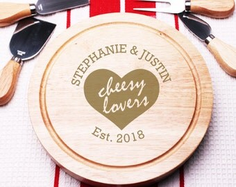 Cheesy Lovers Personalized 5 pc. Cheese Board Gourmet Set (PPDC13)
