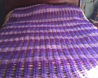 Crocheted Purple Blanket