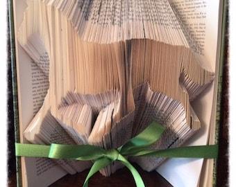 Running Horse Book Art, Folded Book, Great Gift for Horse Lover, Book Folding Art, Folded Book Art, Gift for Men or Women, Book Origami