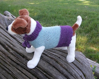 Dogs Jumpers with pompons.Size M. Purple/Turquoise