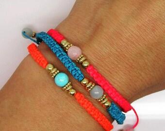 Vermeil Gold Neon Friendship bracelets