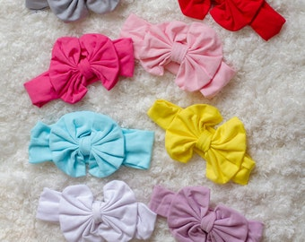 Solid Bow Headbands