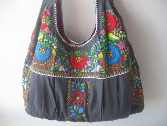 Mexican embroidered bag purse by