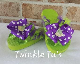 Tiana Princess and the Frog Tutu Flip Flop Sandals, Shoes