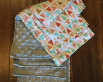 Set of 4 Baby Burp Cloths