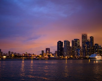 Chicago Photography, Downtown Chicago, Street Photography, Chicago Skyline, Fine Art Photography - Chicago Skyline at Dusk