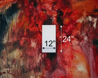 "Gallery Blank Stretched Art Canvas 24""x12"" (2'x1') 1.5"" Depth"