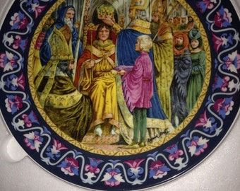 Wedgwood Arthur Crowned King Collectors Plate Boxed & Certificate Ltd Edition