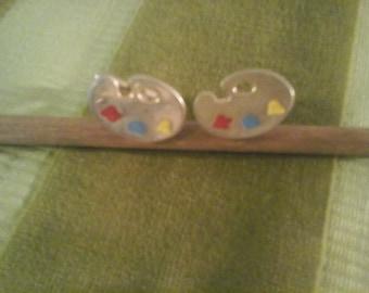 artist palette cufflinks
