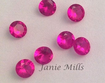 Ruby Faceted Gemstone 5 mm round pkg of 2