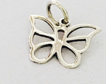 Silver butterfly pendant, Sterling Silver chain, Silver pendant,  Silver necklace, 925 silver,  chain pendant, Bohemian necklace (P 14)