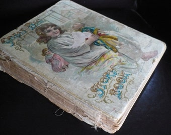 "Antique ""Great Big Story Book"" for children, 1909, McLoughlin Bros publisher"
