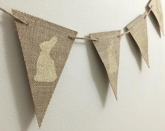 Easter Bunny Burlap Banner - Rustic Burlap Banner - Burlap Banner - Easter Banner - Shabby Chic Banner