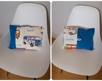 Combi-volkswagen patterned multicolored Cushion cover