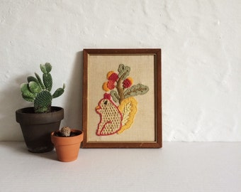 Squirrel Needle Point Wall Décor