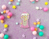 Take a Chance Gumball Machine - Heart Candy -  Enamel Pin