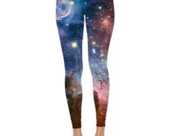 Space leggings, space tights, outer space clothing, space apparel.
