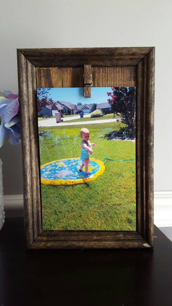 Rustic Picture Frame Block Picture Frame Rustic By