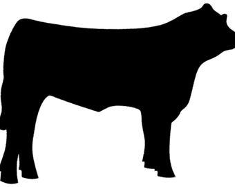 4 in vinyl cow decal