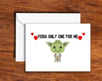 Holidays - Valentines Day - Yoda Only One For Me