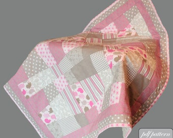 Baby quilt design pdf pattern and tutorial : Emergent dreams