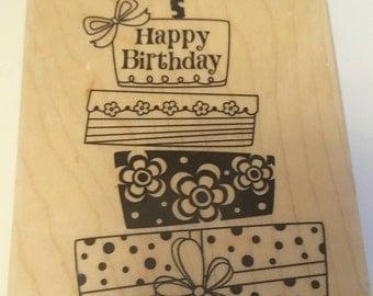 Happy Birthday wood stamp from Hero Arts